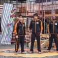 Guilherme Leicam, Nando Rodrigues, Rafael Zulu e Raphael Viana são o time masculino. Leicam disse estar com saudade da namorada antes mesmo de viajar