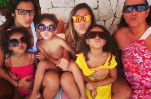 Paula Morais se diverte com filhas e mãe de Ronaldo na Espanha: 'Bagunça boa'