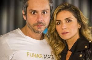 Novela 'A Regra do Jogo': Romero pensa que Atena morreu e ela o flagra chorando