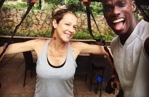 Luana Piovani faz atividades físicas 50 dias após parto: 'O corpo vai voltar'