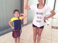 Flávia Alessandra leva filha caçula para academia: 'Malhar com minha florzinha'