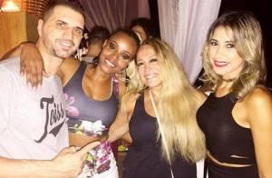 Susana Vieira prestigia festa de aniversário de Roberta Rodrigues no Vidigal