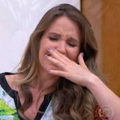 Mariana Ferrão chora com história de mulher que descobriu câncer na gravidez