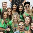 Esta semana, Maisa Silva e MC Biel posaram juntos com a cantora Demi Lovato, que fez show exclusivo em São Paulo