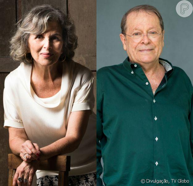Vitória (Irene Ravache) chatageia Luiz (Carlos Vereza) para coagi-lo a comprar a casa dela e lhe dar o direito de usufruto, em 27 de outubro de 2015, na novela 'Além do Tempo'