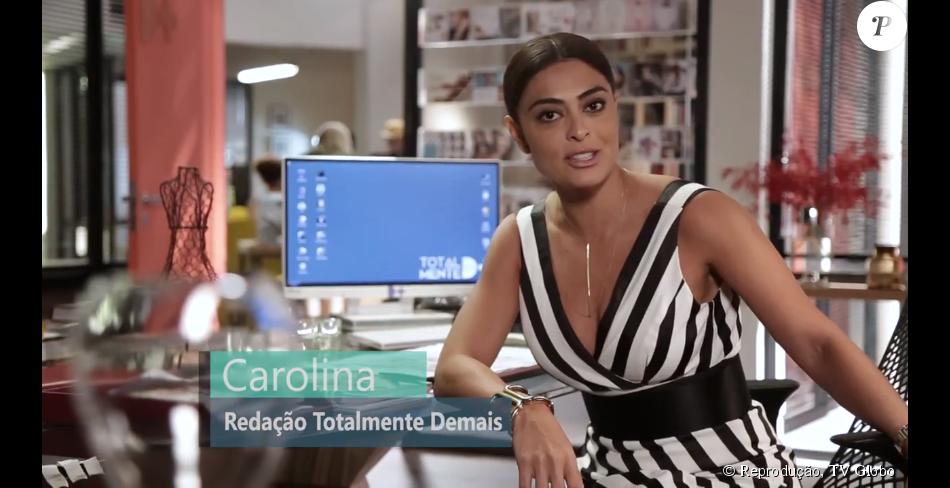 Na novela 'Totalmente Demais', Juliana Paes será Carolina, a poderosa diretora de uma revista