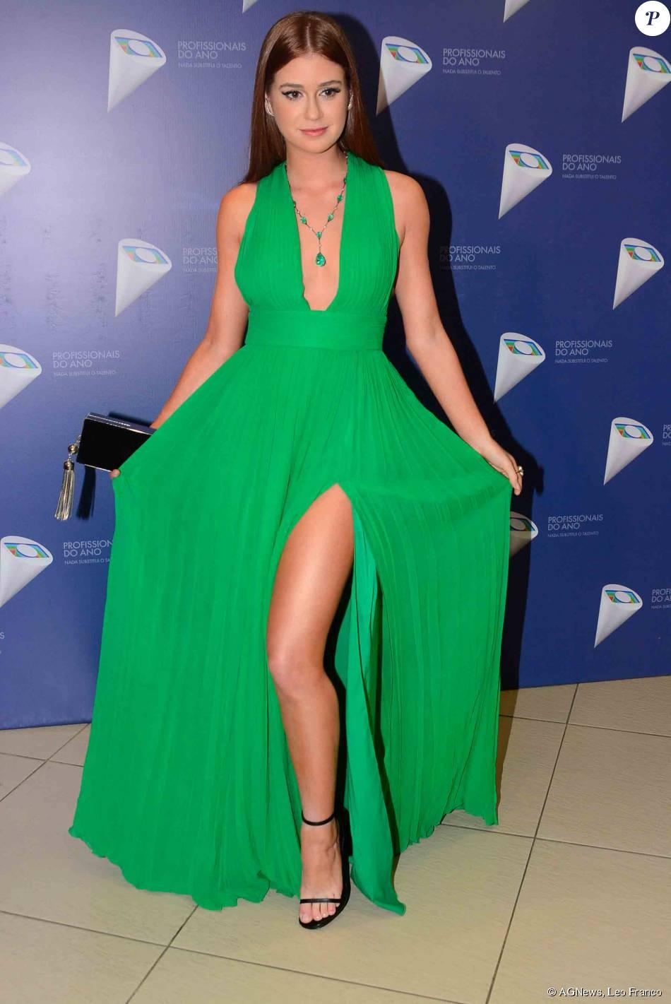 043e1616ad Marina Ruy Barbosa apostou em vestido verde da Printing