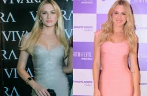 Fiorella Mattheis repete modelo de vestido em eventos diferentes. Compare!