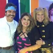Xuxa usa fantasia inspirada em seu visual nos anos 80 em festa de Fabiana Karla