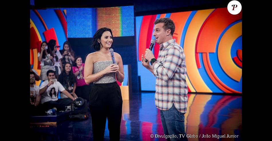 Demi Lovato  e Luciano no 'Caldeirão do Huck'