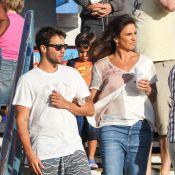 Ivete Sangalo brinca com a família em parque na folga da turnê de shows nos EUA