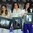 Thássia Naves, Carolina Ferraz e Isabella Fiorentino em evento de marca de beleza