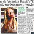 Adriana Esteves conquistou o Brasil como a vilã Carminha e agora está em destaque no Chile. A imprensa do país está em busca de matérias exclusivas com a artista