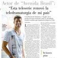 Cauã Reymond conquista fãs do Chile e comemora no Facebook. O ator publicou uma matéria e escreveu na legenda:  'Avenida Brasil' bombando no Chile. Lá, Jorginho é Jorgito '