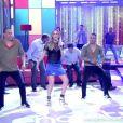 Claudia Leitte dança no programa 'Encontro com Fátima Bernardes'
