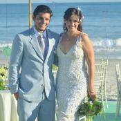 'Flor do Caribe': elenco grava o casamento de Natália e Juliano; veja fotos