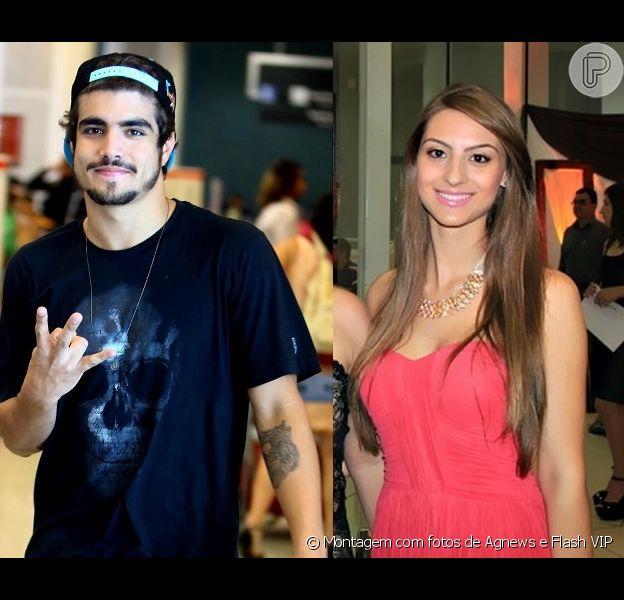 Carolina Vivian negou ter passado a noite com Caio Castro, mas admite ter ficado com o ator: 'Só dei um beijo', diz em conversa com Purepeople nesta sexta-feira, 30 de agosto de 2013