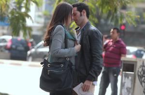 Paula Braun, mulher de Mateus Solano, grava cena romântica de 'Amor à Vida'