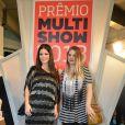 Samara Felippo e Carolinie Figueiredo  posam no Prêmio Multishow 2013