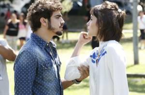 Caio Castro e Maria Casadevall gravam cena de briga de casal para 'Amor à Vida'