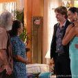 Taís (Débora Nascimento) apresenta Marcello, seu namorado italiano, para a família depois de passar uma temporada trabalhando como modelo no exterior, no último capítulo de 'Flor do Caribe'