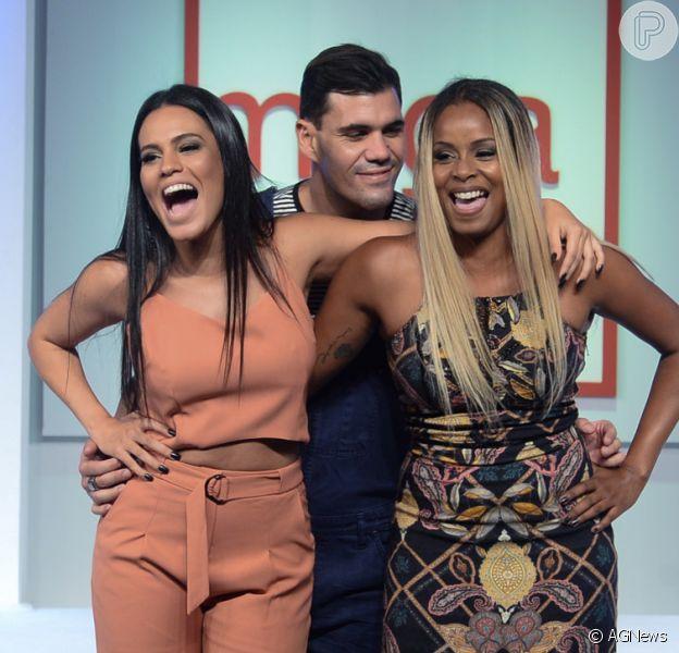 Leticia Lima, Juliano Cazarré e Roberta Rodrigues desfilam em São Paulo nesta terça-feira, dia 22 de fevereiro de 2016