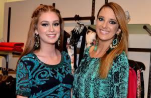 Marina Ruy Barbosa e Ticiane Pinheiro prestigiam evento de moda em SP