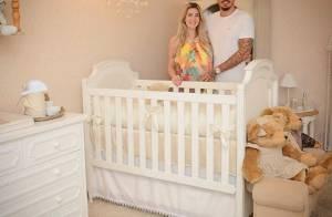 Grávida, ex-BBB Aline mostra móveis para quarto do 1º filho com Fernando. Fotos!
