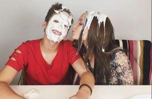 Larissa Manoela e João Guilherme brincam de torta na cara. 'Amei'. Vídeo!
