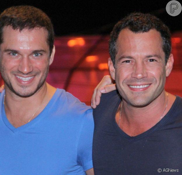 Os atores Paulo Rocha e Malvino Salvador curtem quinto dia de shows no Rock in Rio 2013, nesta sexta-feira (20)