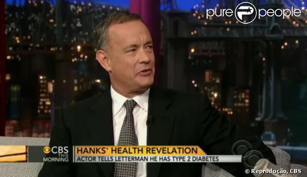 Tom Hanks contou para David Letterman sobre a doença e disse que preferiu viver com ela do que emagrecer