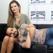 Luciano Camargo chega a evento após fraturar costela em queda:'Dor insuportável'