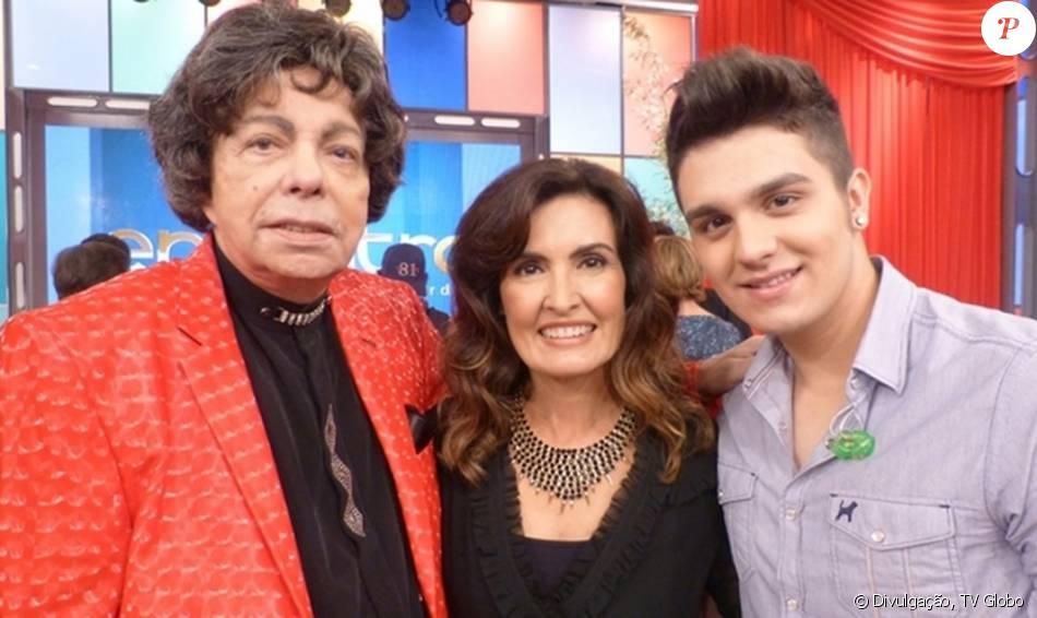 Cauby Peixoto conheceu Luan Santana no 'Encontro com Fátima Bernardes'