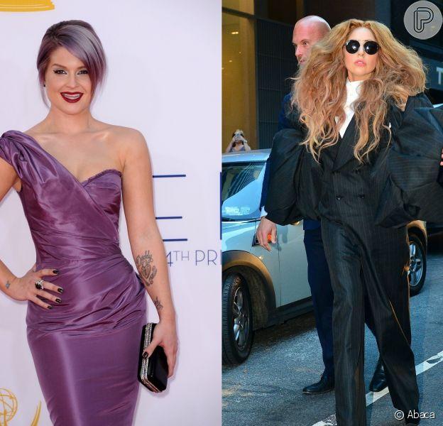 Kelly Osbourne e Lady Gaga trocam farpas no Twitter após a diva pop entregar um bolo de aniversário à Sharon Osbourne para a filha, durante apresentação do 'X-Factor', neste domingo, 27 de outubro de 2013