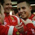 Piloto da Ferrari na categoria GT3, Lorenzo Carvalho é o verdadeiro 'rei do camarote'