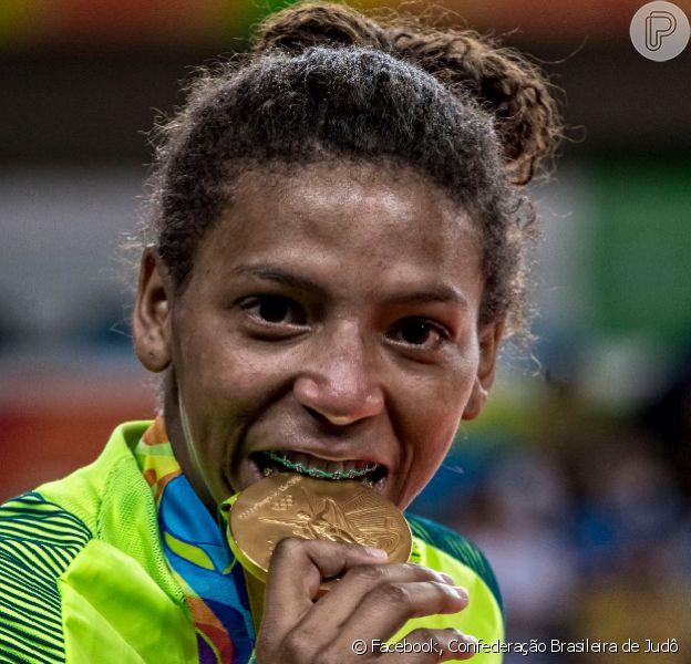 Rafaela Silva, medalha de ouro da Olimpíada Rio 2016, virou queridinha dos brasileiros após vencer disputa no judõ nesta segunda-feira, 08 de agosto de 2016