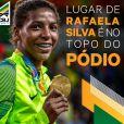 Rafaela Silva foi a primeira brasileira a ganhar medalha de ouro no mundial de judô, em 2013