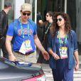 Camila Alves e Matthew McConaughey foram fotografados em frente ao hotel que estão hospedados nesta terça-feira, dia 09 de agosto de 2016