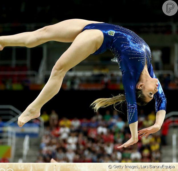 Jade Barbosa chama atenção pela boa forma na final feminina de ginástica artística por equipe na Rio 2016 nesta terça-feira, dia 09 de agosto