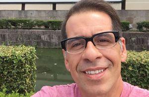 Leandro Hassum visita templo no Japão em viagem de férias: 'Meditar'. Fotos!