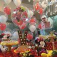 O tema da festa de Valentina, filha de Ceará e Mirella Santos, foi Minnie