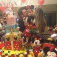 Ceará e Mirella Santos comemoram o aniversário de 2 anos da filha, Valentina, nesta quarta-feira, 10 de agosto de 2016