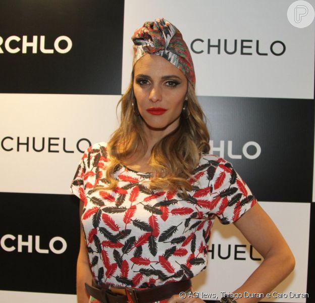 Fernanda Lima chamou a atenção durante evento de moda na noite desta quarta-feira, 27 de novembro de 2013, em São Paulo