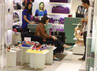 Isabelle Drummond vai às compras em shopping após voltar de Nova York