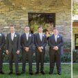 Paul Walker posa com os padrinhos do casamento de seu irmão