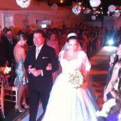 Silvio Santos surge sorridente em fotos do casamento da filha Silvia Abravanel