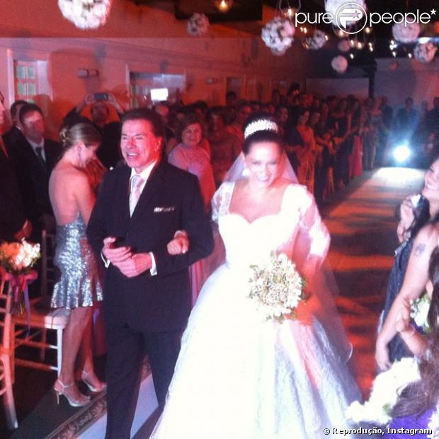 Silvia Abravanel, filha de Silvio Santos, se casa com o cantor Kleyton, da dupla Téo & Edu, em 6 de dezembro de 2013