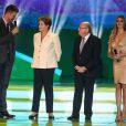 Fernanda Lima apresentou o sorteio da Copa ao lado do marido, Rodrigo Hilbert. Os dois fizeram perguntas à presidente Dilma e ao presidente do da Fifa Joseph Blatter