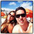 Sofia Vergara aproveitou praia de Miami com Nick Loeb em 2 de janeiro de 2013