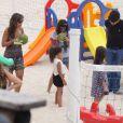 As filhas de Ronaldo, Maria Sophia, de 4 anos, e Maria Alice, de 3, passaram a tarde desta terça-feira, 17 de dezembro de 2013, ao lado de sua madrasta, Paula Morais, no Leblon, Zona Sul do Rio de Janeiro